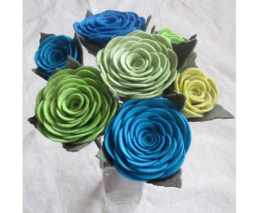Decorative Handmade Felt Fabric Flowers