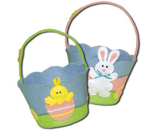 Cute Rabbit Bag Easter Felt Storage Basket
