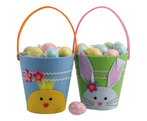 Cute Rabbit Bag Easter Felt Storage Basket