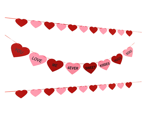 Conversation Hearts Banner Candy Hearts Banner Valentines Heart Banner Garland for Valentines Day