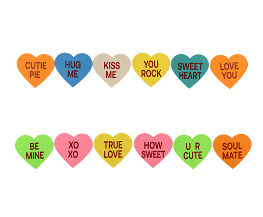 Valentine Conversation Hearts Decorations Banner -2 Valentines Heart Garland
